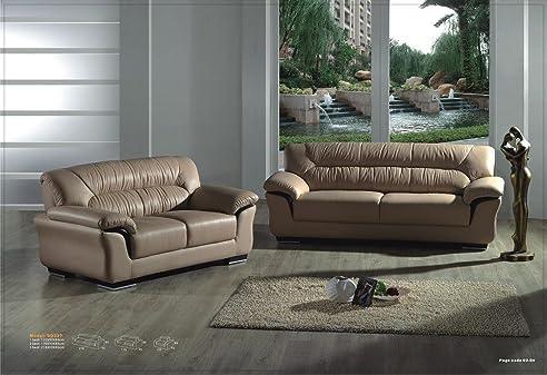 Design Voll-Leder-Sofa-Garnitur-Polstermöbel-Ledergarnitur ...