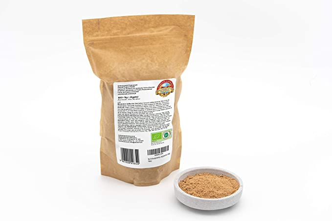 Polvo de proteína de maní orgánico de comercio justo – 1 kg – 56% de proteína – sin gluten y bajo en carbohidratos – vegano