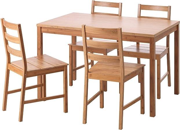 Ikea Finede Tavolo E 4 Sedie In Bambu Amazon It Casa E Cucina