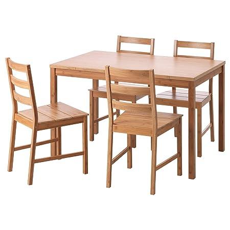 Ikea Tavoli E Sedie Per Cucina.Unbekannt Ikea Finede Tavolo E 4 Sedie In Bambu Amazon It Casa