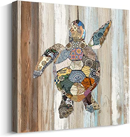 TURTLE CANVAS PRINT PICTURE ABSTRACT WALL ART HOME DECOR FREE DELIVERY