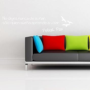 Adesiviamo® Peter Pan No Dejes Nunca de soñar Wall Sticker Adhesivo da Muro: Amazon.es: Hogar