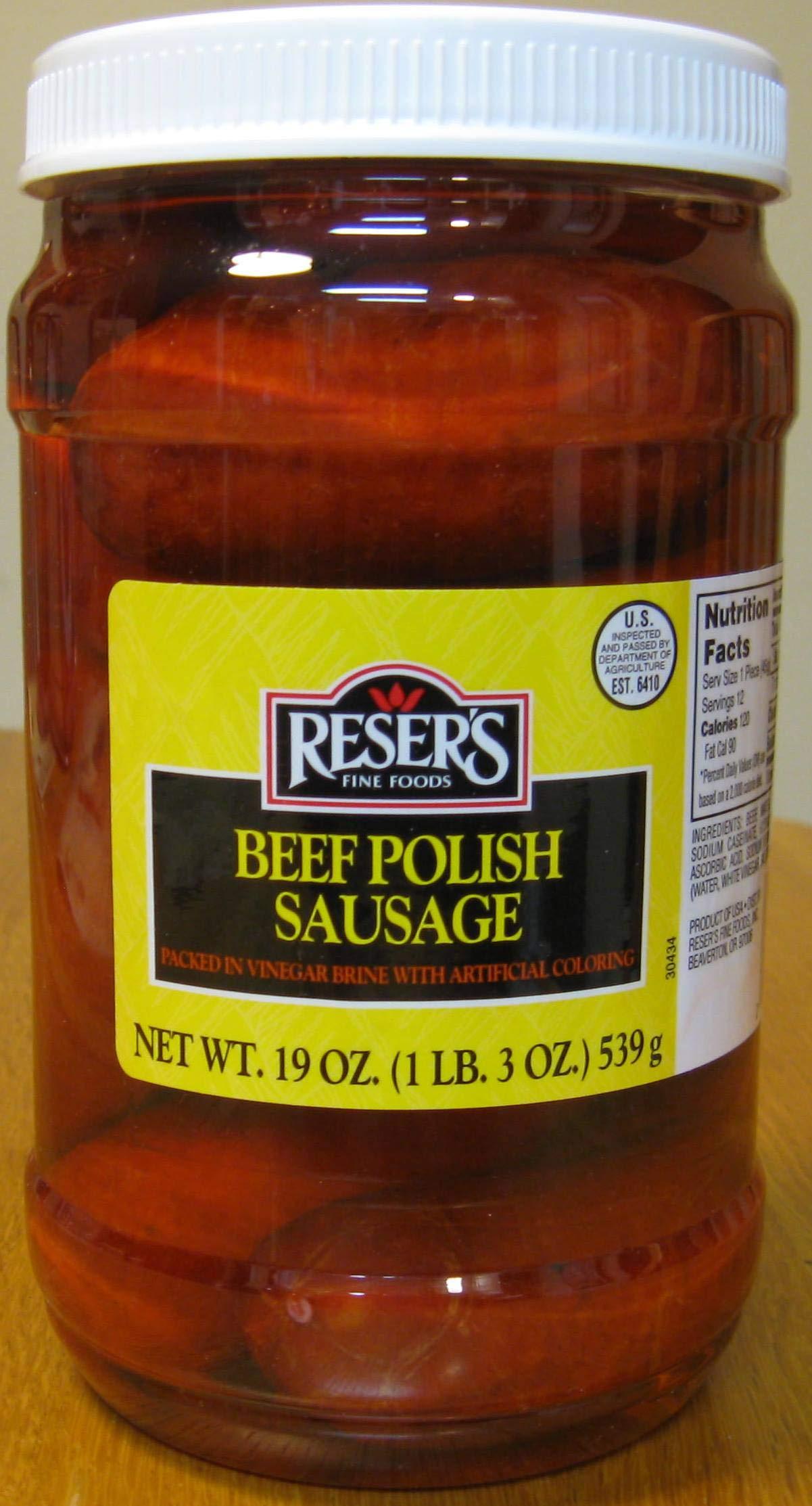 Reser's Mild Pickled Beef Polish Sausage Quart Jar by Reser's