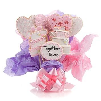 Wedding Cookie Bouquet 9 Pc