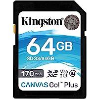 Kingston SDG3/64GB SD-kaart (64 GB SDXC Canvas Go Plus 170R C10 UHS-I U3 V30)