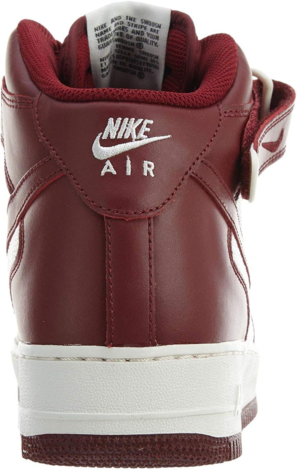Nike, Uomo, Air Force 1 Mid 07 Team Red Summit White, PelleMesh, Sneakers Alte, Rosso, 40 EU