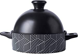 WANGP Moroccan Tagine 8.1 Inches, Slow Cooker Clay Material 1300ml Easy to Clean Tagine Pot Suitable for Electric Steamer Oven Dishwasher