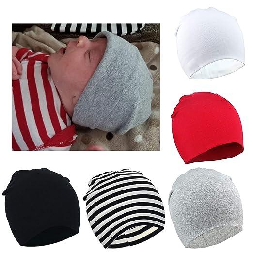 cd89b69ca94 Amazon.com  BQUBO 5 Pieces Cute Turban Hats for Baby Girls Vintage ...