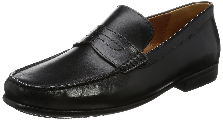 Clarks Claude Lane, Mocasines para Hombre 44 EU Schwarz (Black Leather ---)