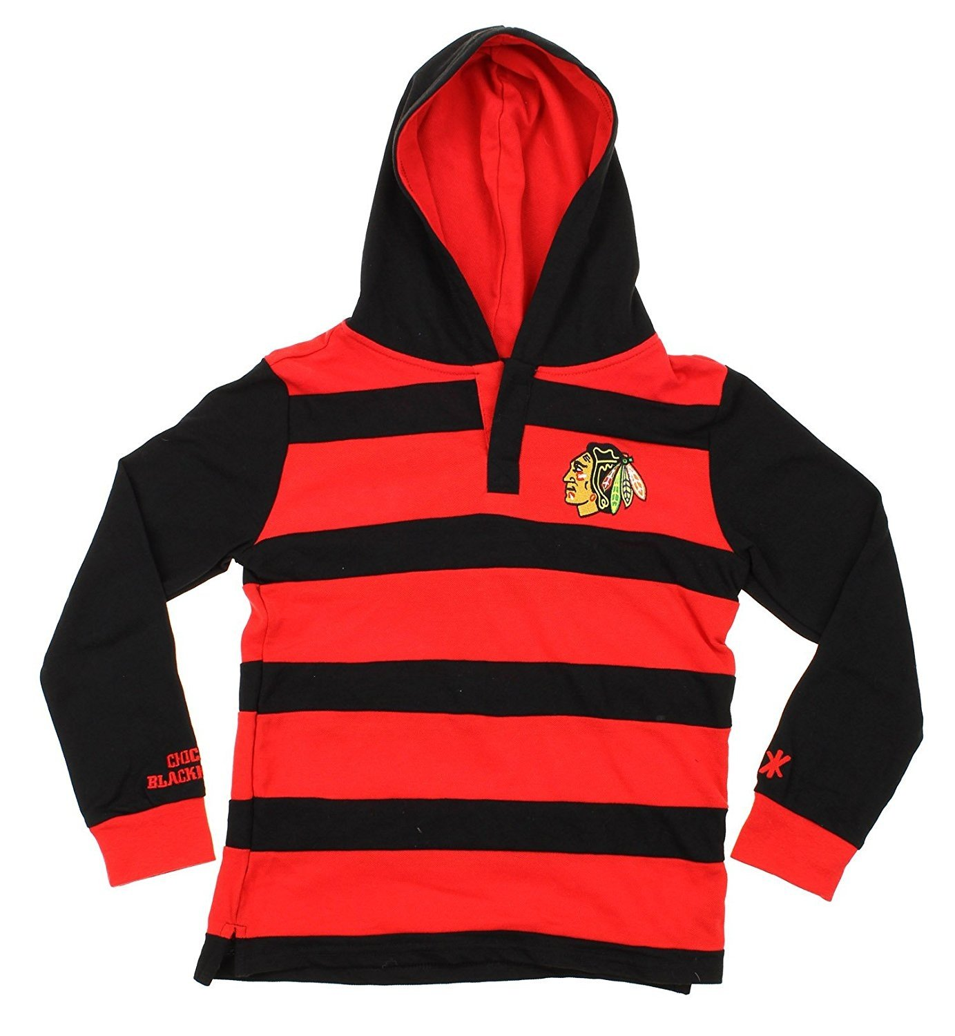 bfce911558 Amazon.com : Klew NHL Boys (8-20) Youth Striped Rugby Pullover Hoody  Sweater Shirt, Various Teams : Sports & Outdoors