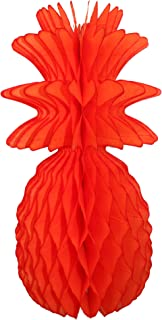 product image for 3-Pack Solid Colored 13 Inch Honeycomb Pineapple Party Decoration (Orange)