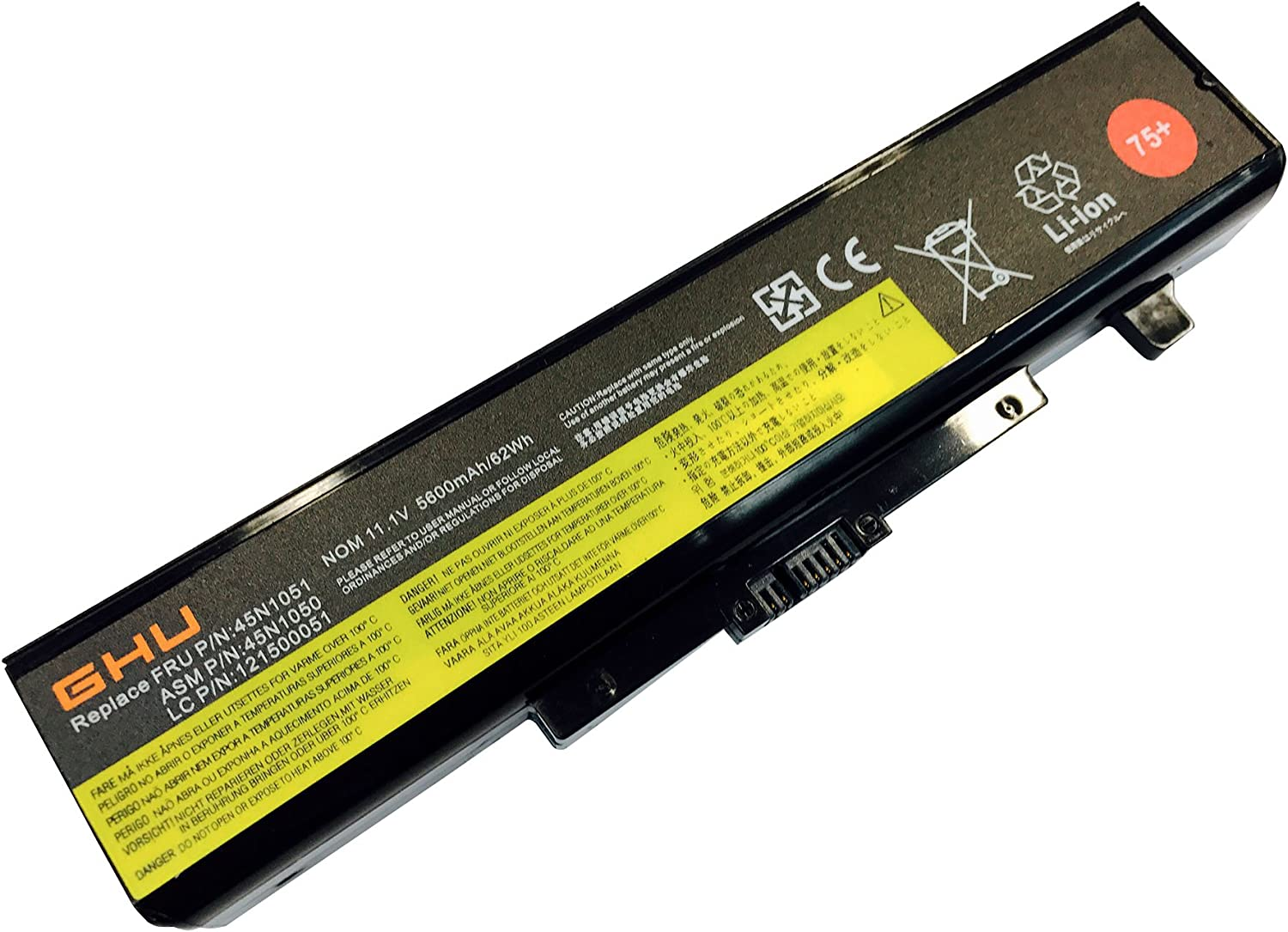 New GHU Battery 62 WH Replacement for L11S6Y01 45N1043 Compatible with Lenovo Thinkpad G580 Y580 G480 G485 G585 Y480 Y480N Y485 Y485N Y480P Y580 Y580N Y485P Z380 Z480 Y580P Z580 Z585 Z485 G700