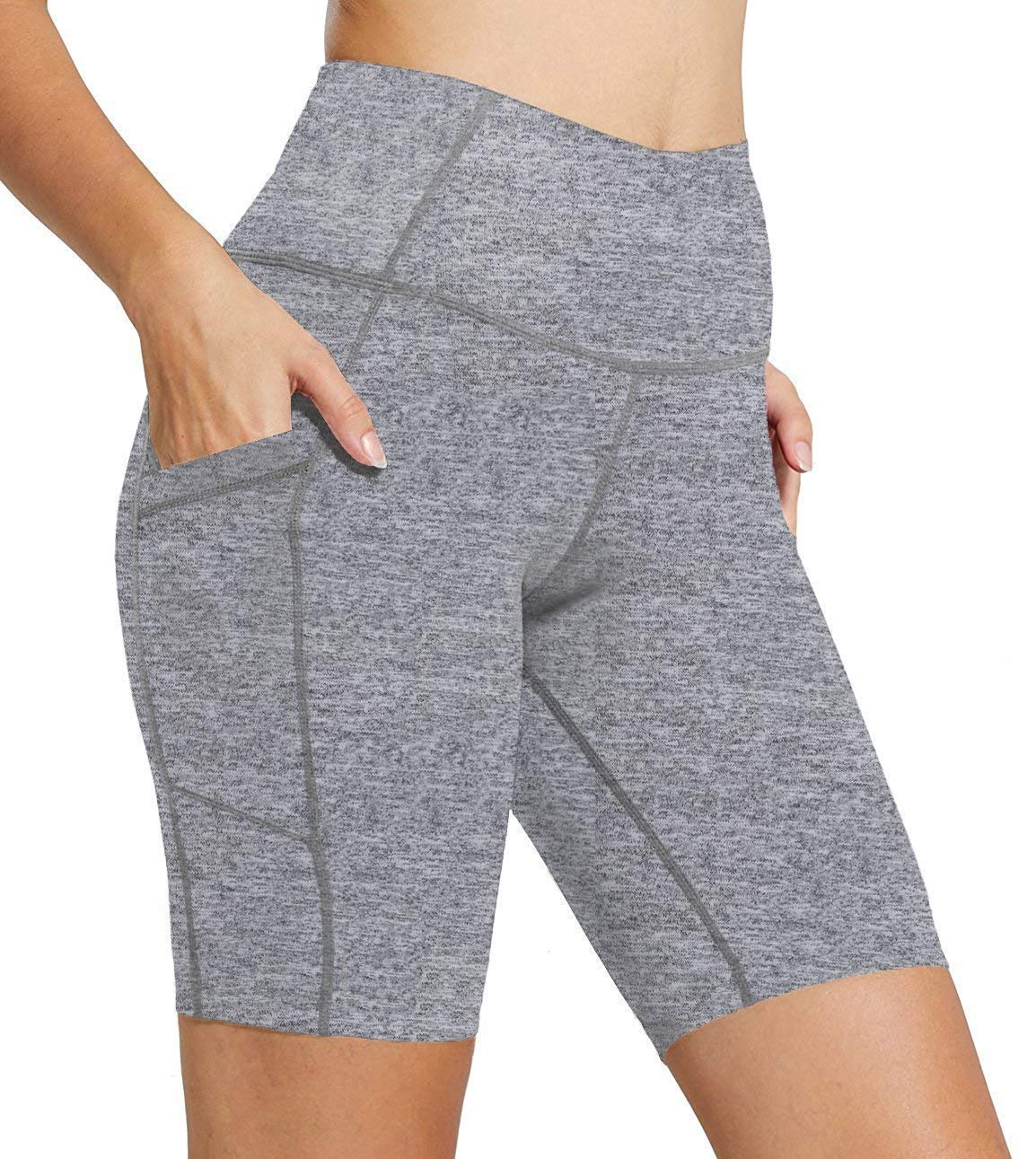 FIRM ABS Women Running Workout Tights Yoga Shorts Half Tights with Pockets XL