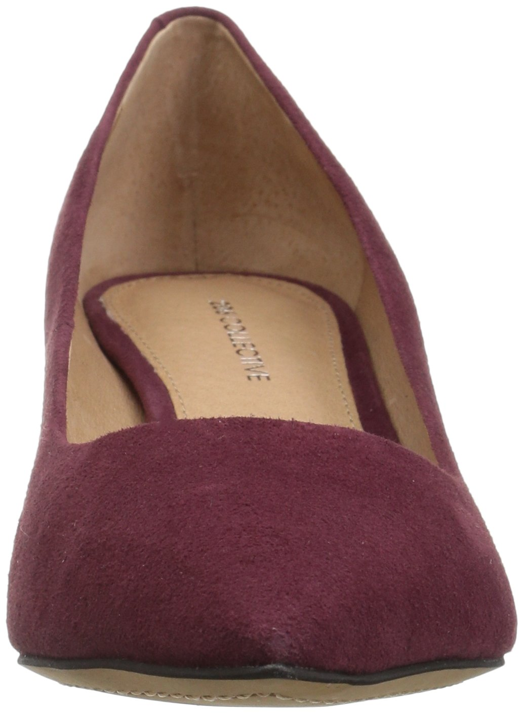 206 Collective Women's Queen Anne Kitten Heel Dress Pump, Burgundy, 8.5 B US by 206 Collective (Image #4)
