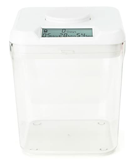 Superbe Kitchen Safe: Time Locking Container (White Lid + Clear Base)   5.5u0026quot;