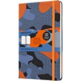 Moleskine Limited Collection Notebook Blend, Large, Ruled, Orange Camouflage, Hard Cover (5 x 8.25)