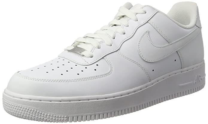 nike mens air force 1 07 bianco / basket bianco