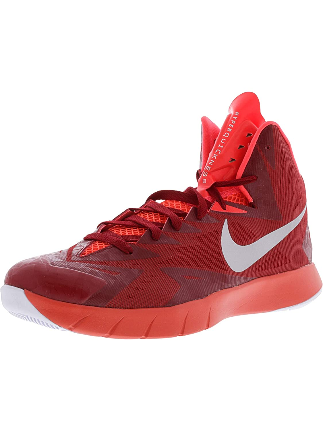 timeless design b8da3 8c808 Nike Men s Lunar Hyperquickness Tb Gym Red Metallic Silver Bright Crimson  Ankle-High Basketball Shoe - 18M  Buy Online at Low Prices in India -  Amazon.in