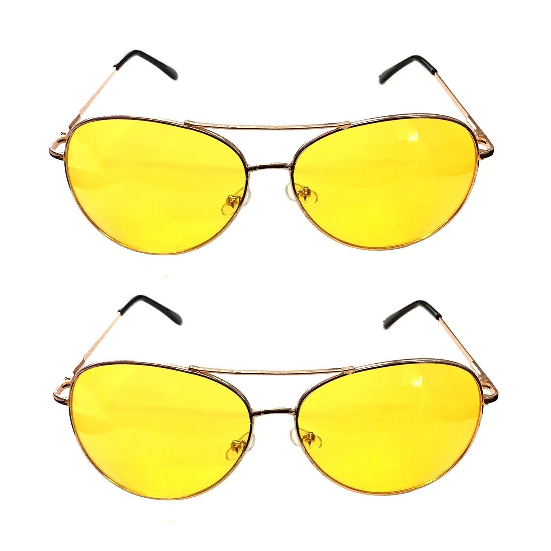 2x Nachtsichtbrille | Kontrastbrille | Nachtfahrbrille | Nachtbrille | Retro G&M 70962