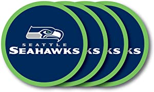 NFL Seattle Seahawks Vinyl Coaster Set (Pack of 4)