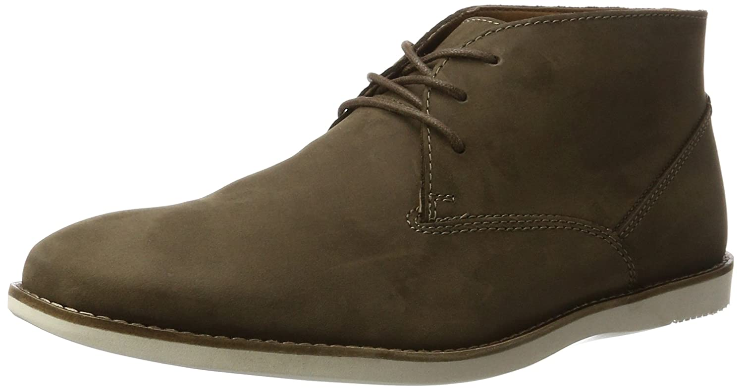 Brown (Brown Nubuck) Clarks Men's Franson Top Chukka Boots