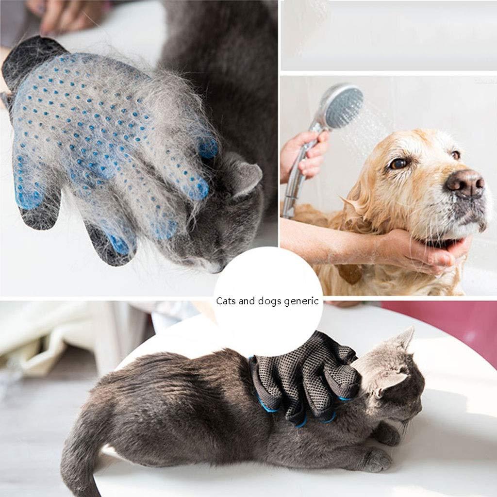 Amazon.com : Hong Yi Fei-Shop-Pet Brush Guantes De Silicona Especiales para Perros Y Gatos/Cepillos De Limpieza para Perros/Suaves Y Cómodos Sin Olor (Size ...