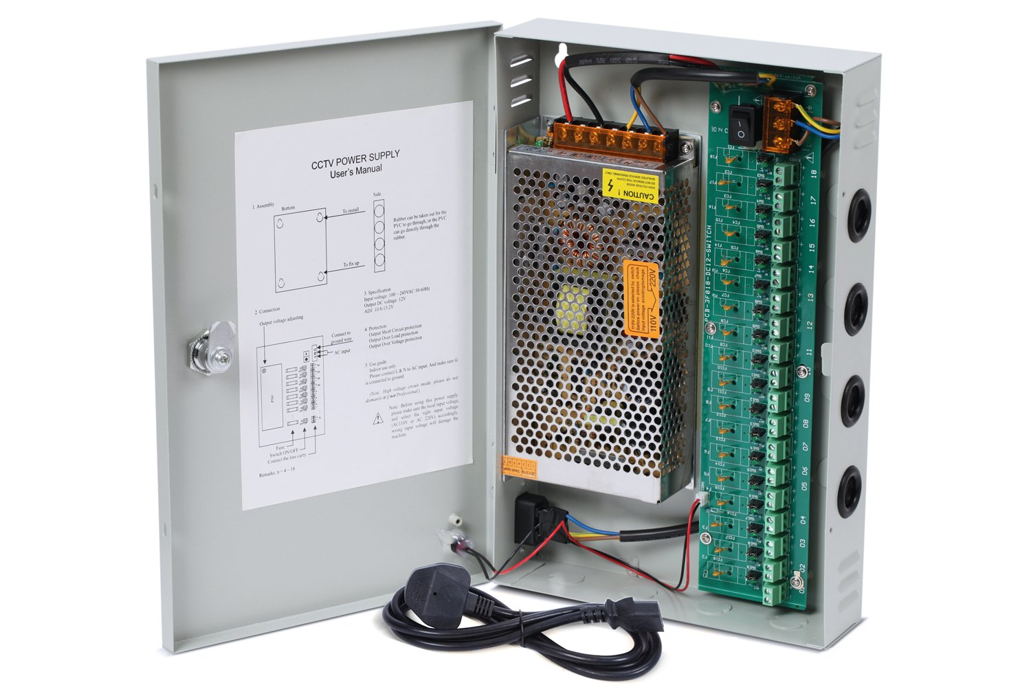71vgWNAOK3L._SL1500_ nordstrand cctv camera power supply distribution box amazon co uk 18 Channel CCTV Power Supply at bayanpartner.co