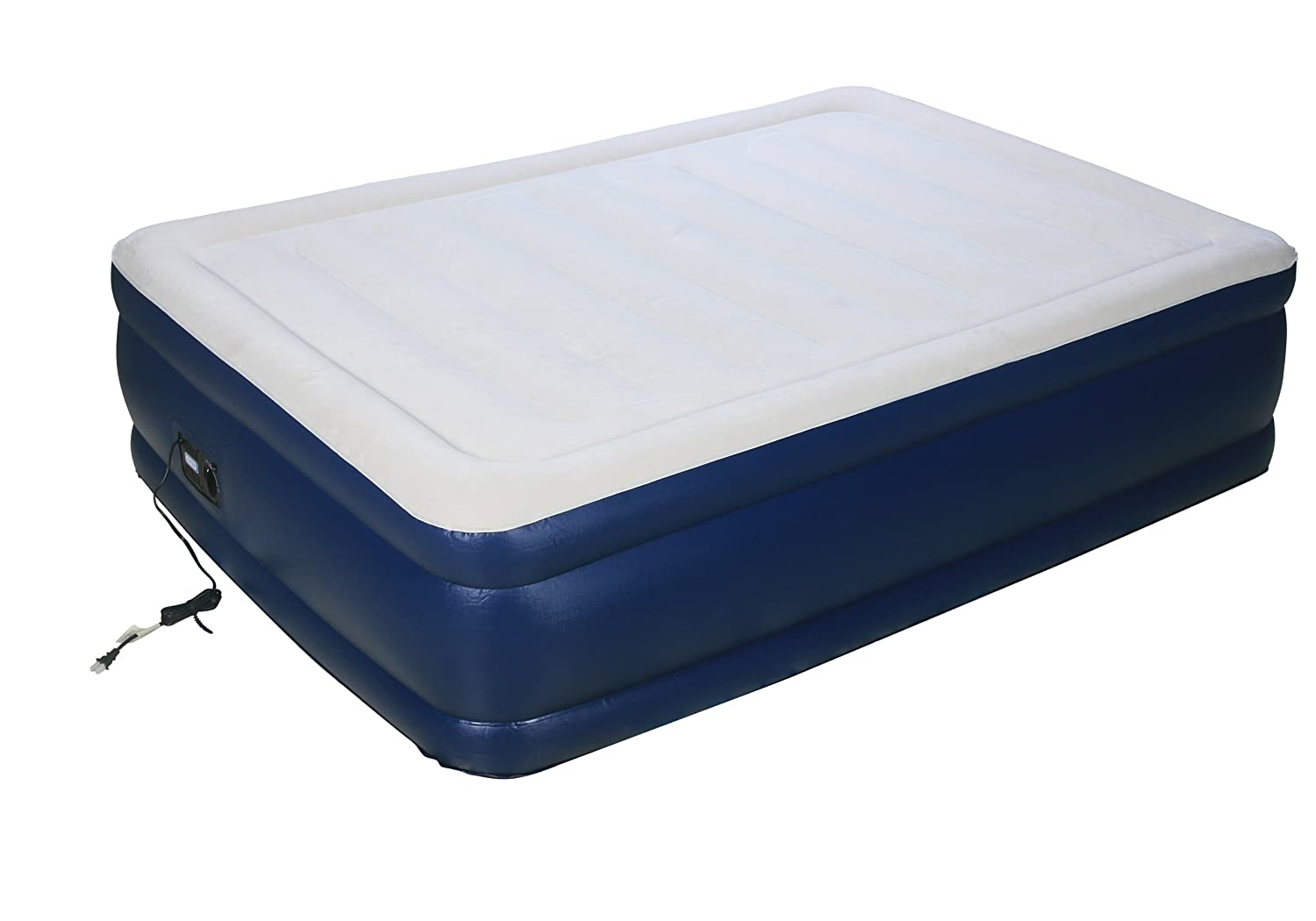 Airtek Full Keystone series Premium velvety Flocked top Air Mattress Airbed with Patented high-end Giga valve for ultra fast deflation extra thick 2ABF04005 Interworld Commerce Inc.
