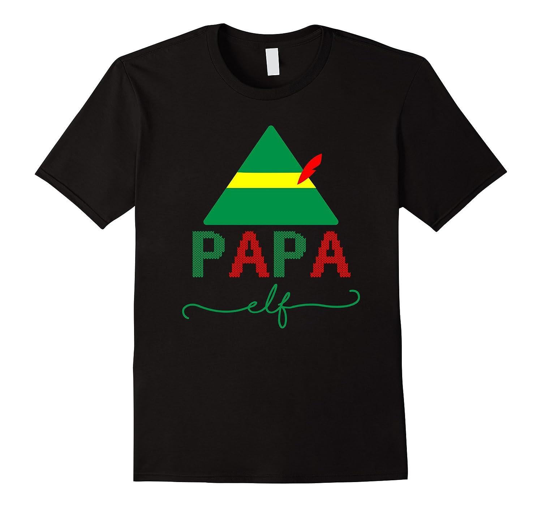 Papa Elf Christmas T-Shirt-FL