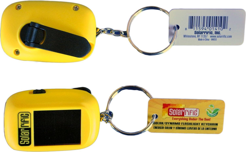 Solarrific W4010 (1 pc only) Solar/Handcrank LED Flashlight Keychain