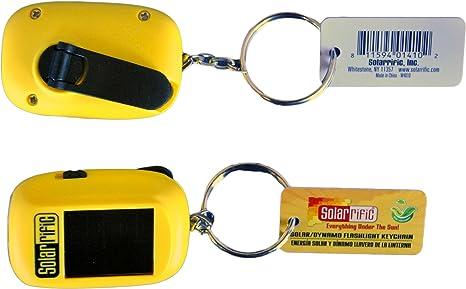 Solarrific® W4010 Solar/ Handcrank LED Flashlight Keychain Pack of 5