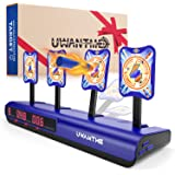 UWANTME Electronic Shooting Target Scoring Auto Reset Digital Targets for Nerf Guns Toys, Ideal Gift Toy for Kids-Boys…