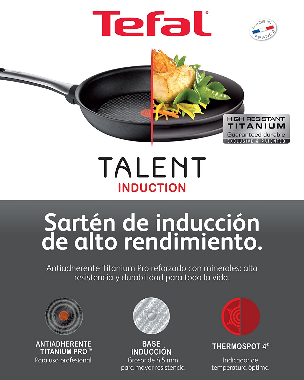 Tefal Talent 28 cm - Sartén, diámetro 28 cm., indicador ...