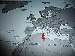 blupalu Weltkarte World Map Poster für Pins - Groß (XXL