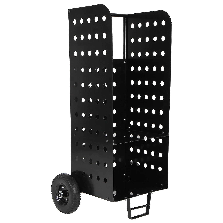 Jago - Carro de hierro con ruedas para leña madera - carga máxima aprox. 100 kg - medidas aprox. 46/60/107 cm: Amazon.es: Bricolaje y herramientas