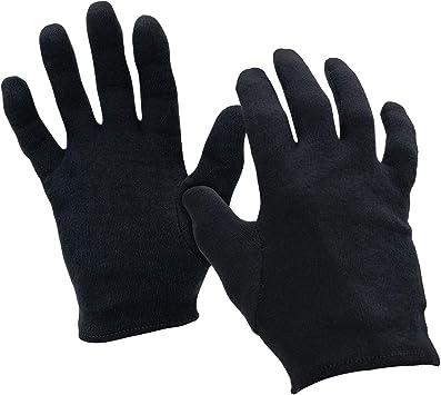 Negro 100% algodón hidratante guantes en extra grande | utilizado para la piel seca, Eczema, dermatitis, Psoriasis, esteticistas, Fancy Dress, limpieza por powcog®: Amazon.es: Bricolaje y herramientas