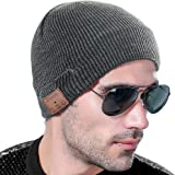 VLOXO Bluetooth帽子 音楽ニット帽子 イヤホン内蔵 多機能帽子 USB充電 男女兼用音楽やハンズフリー通話可能 スポーツ用品 洗濯可 冬に防寒対応