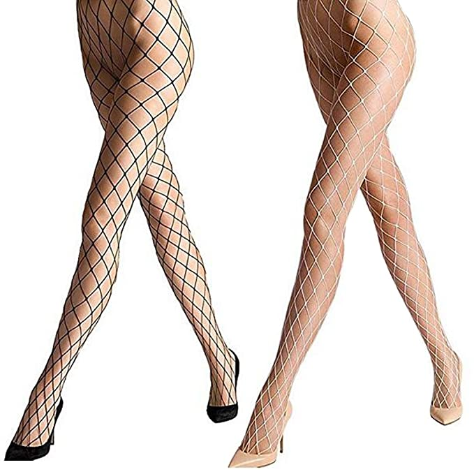 f7aaab575b130 Women's Sexy Fishnet Pantyhose Sheer Lace Stocking Tights Control Top  Reinforced Toe Silk Sexy Panty Hose