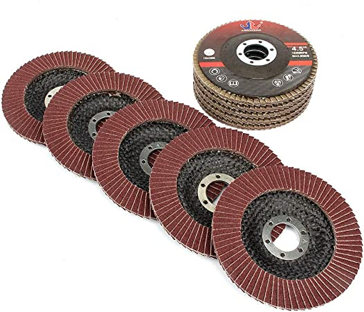 "10pc 4-1//2/"" 60 Grit Flat Aluminum Oxide Flap Disc Grinding Wheel Sanding Disc"