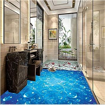 Mddjj Wasserdichte Tapete Für Badezimmer Blaue Welle Wassertropfen ...