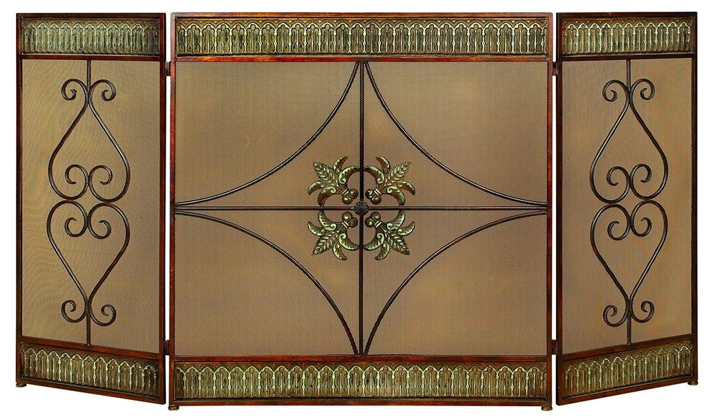 Amazon.com: Deco 79 Metal Fire Screen, 60 by 32-Inch: Home & Kitchen