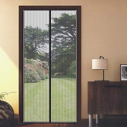 Facile Da Installare Zanzariera Magnetica Per Porte,finestra Zanzariere Magnetiche,Laria Fresca Entra,Chiude Automaticamente Nero