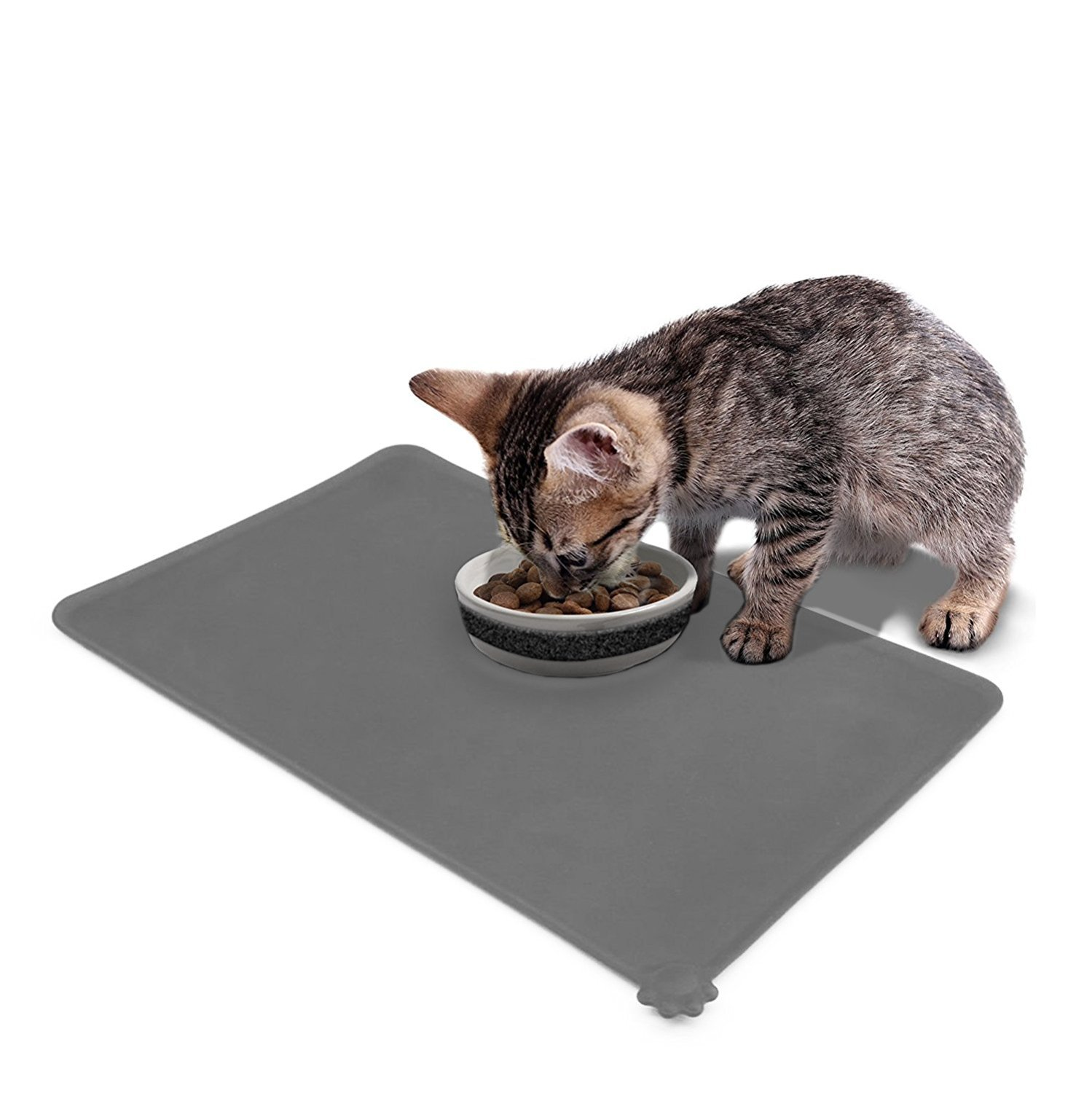 Pet Dog Cat Food Mat Tray-Waterproof Non-slip Pet Dog Cat Feeding Mat Placemat Bowl Mat With Free Towel For Dogs Cats