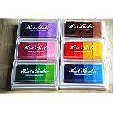 Craft Multicolore Ink Pad pour Bois Papier Tissu pour tampons encreurs (Set of Full 6 Colours)