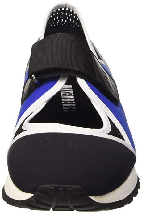 Bikkembergs Kate 664 L.Shoe Cut Out W Lycra/Leather, Chaussures Basses Femme, Noir (Blk/Blue/Black), 37 EU