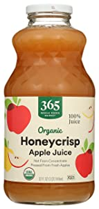 365 Everyday Value, Organic Juice Not from Concentrate - Pasteurized, Honeycrisp Apple, 32 fl oz