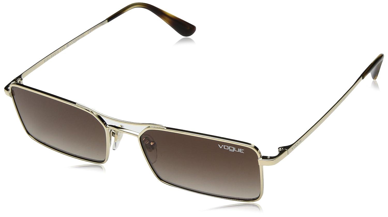 VOGUE Women's 0vo4106s Rectangular Sunglasses, Pale gold, 55 mm