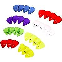 AmazonBasics - Púas de guitarra de colores transparentes, de policarbonato, 30 piezas