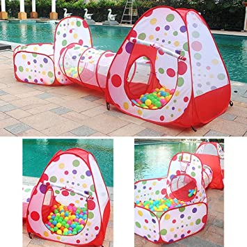 u0026quot;Kids Play Tent Tunnel Set3 in 1 Children Baby Play House Tent  sc 1 st  Amazon.com : kids play tent and tunnel set - memphite.com