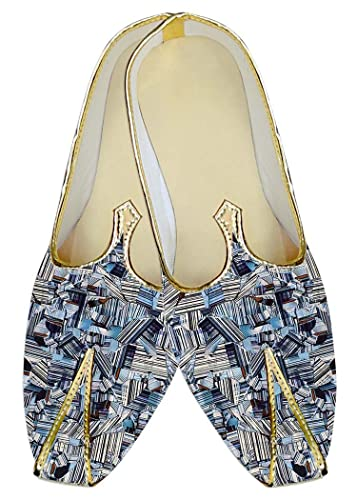 Mens Sky Blue Wedding Shoes Multi Design MJ017005